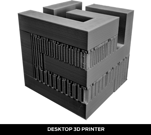 Desktop 3D Printers have messy, solid supports that restrict print possibilities.